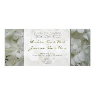Hydrangea-Hochzeits-Einladung von den Eltern der 10,2 X 23,5 Cm Einladungskarte