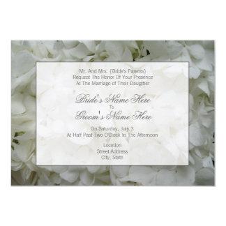 Hydrangea-Hochzeits-Einladung von den Eltern der 12,7 X 17,8 Cm Einladungskarte