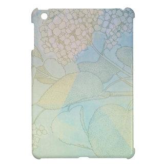 Hydrangea-Reihen-Aquarell-botanischer Druck II Hülle Für iPad Mini