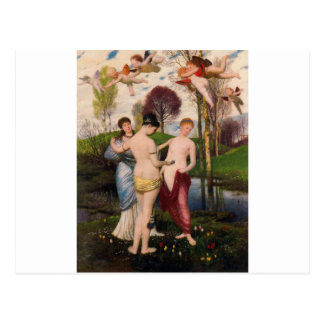 Hymne zum Frühling durch Arnold Böcklin Postkarte
