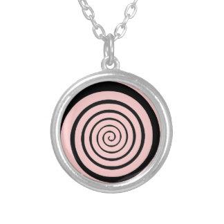 Hypnotik-Spirale Versilberte Kette