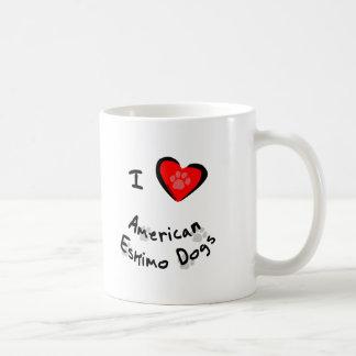 I amerikanische Eskimohunde des Herz-(Liebe) Tasse