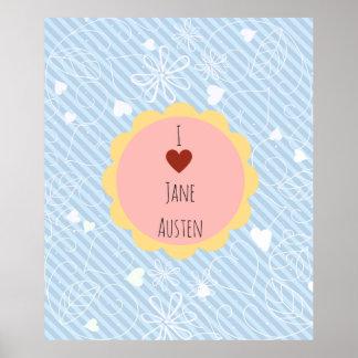 I Blau Liebe-Janes Austen Poster