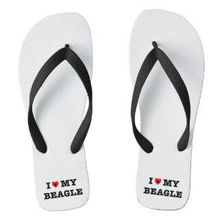 I drehen Herz mein Beagle Reinfälle um Flip Flops