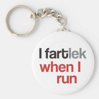 I FARTlek, wenn ich © - lustiges FARTlek laufen la Standard Runder Schlüsselanhänger