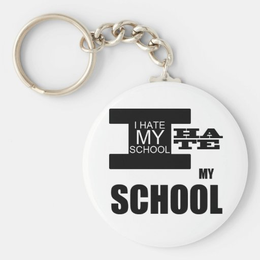 i_hate_school schlüsselanhänger