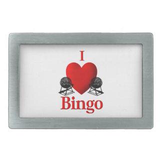 I Herz-Bingo Rechteckige Gürtelschnallen