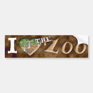 I (Herz) der Zoo (allgemeines Eland) Autoaufkleber
