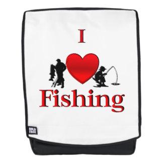 I Herz-Fischen Rucksack