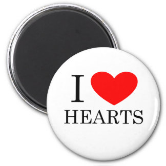I Herz-Herzen Runder Magnet 5,1 Cm