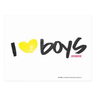 I Herz-Jungen-Gelb Postkarte