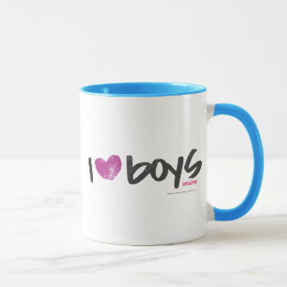 I Herz-Jungen lila Tasse