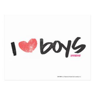 I Herz-Jungen-Rosa Postkarte