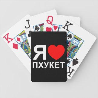 I Herz[Liebe] Phuket [Пхукет] ~ Russe Pokerkarten