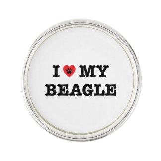 I Herz mein Beagle-Revers-Button Anstecknadel