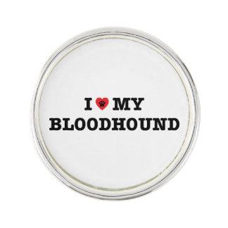 I Herz mein Bluthund-Revers-Button Anstecknadel