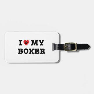 I Herz mein Boxer-Gepäckanhänger Kofferanhänger
