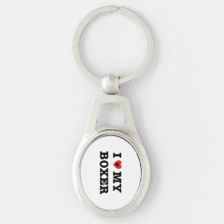 I Herz mein Boxer-Metall Keychain Schlüsselanhänger