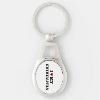 I Herz mein Chihuahua-Metall Keychain Schlüsselanhänger