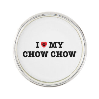 I Herz mein Chow-Chow Chow-Chow Revers-Button Anstecknadel
