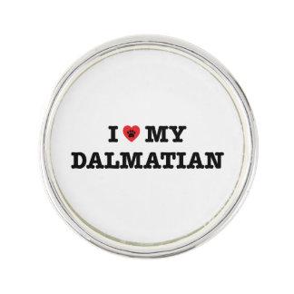 I Herz mein dalmatinisches Revers-Button Anstecknadel