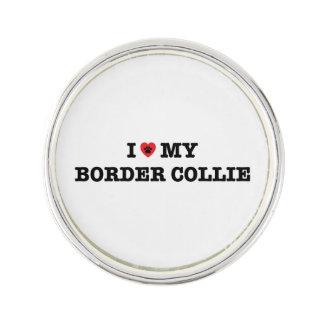 I Herz mein Grenzcollie-Revers-Button Anstecknadel