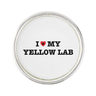 I Herz mein Labrador-Revers-Button Anstecknadel