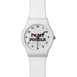 I Herz mein Pudel nummeriert Armbanduhr