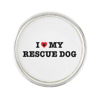 I Herz mein Rettungs-Hunderevers-Button Anstecknadel