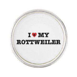 I Herz mein Rottweiler Revers-Button Anstecknadel