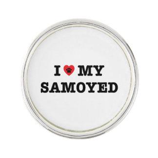 I Herz mein Samoyed-Revers-Button Anstecknadel