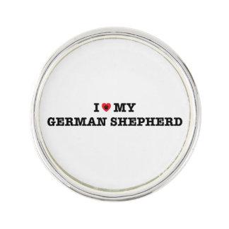 I Herz mein Schäferhund-Revers-Button Anstecknadel