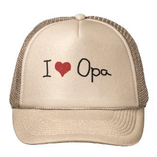 I Herz Opa Baseball Caps
