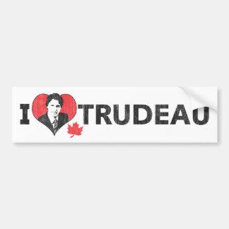 I Herz Trudeau Autoaufkleber