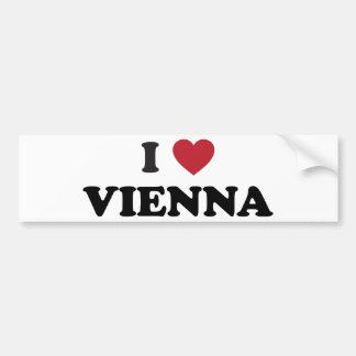 I Herz Wien Österreich Autoaufkleber