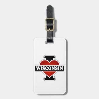 I Herz Wisconsin Kofferanhänger