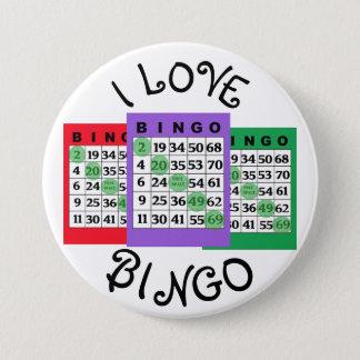 I kardiert Liebe BINGO Knopf Runder Button 7,6 Cm