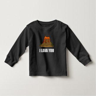 I Lava Sie Vulkan Kleinkinder T-shirt