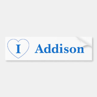 I Liebe Addison (BpS) Autoaufkleber