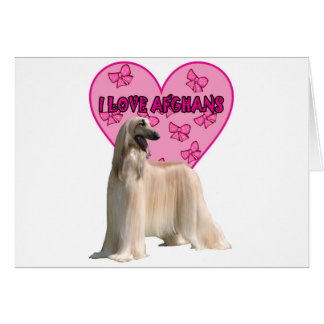 I Liebe-Afghanen, afghanischer Hund, großer Hund Karte