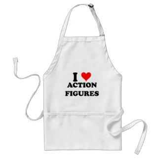 I Liebe-Aktions-Zahlen Schürze