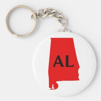 I Liebe-Alabama-Staat Standard Runder Schlüsselanhänger