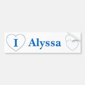 I Liebe Alyssa (BpS) Autoaufkleber