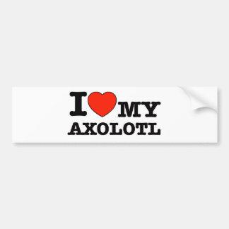 I Liebe Axolotl Autoaufkleber