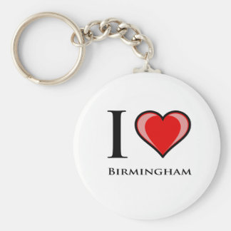 I Liebe Birmingham Standard Runder Schlüsselanhänger