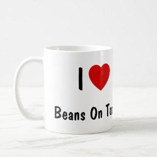 I Liebe-Bohnen auf Toast Tasse
