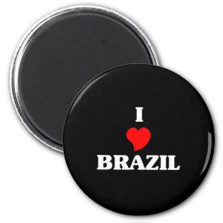 I Liebe Brasilien Runder Magnet 5,7 Cm