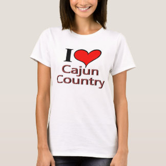 I Liebe Cajun Land T-Shirt