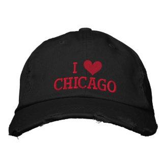 I LIEBE CHICAGO-- GESTICKT! BESTICKTE BASEBALLMÜTZEN