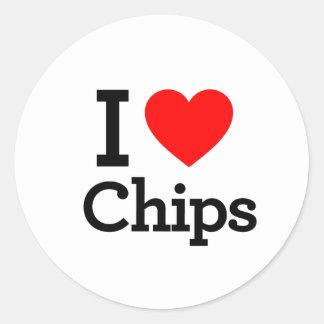 I Liebe-Chips Runde Aufkleber